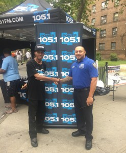 PO Angel Lujan from NYPD's PA 5 and HHSYC's Charles Fisher