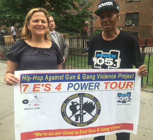 Family Day At Wagner Houses With Power 105.1, Hip-Hop Summit Youth Council, NYPD & Speaker Mark-Viverito