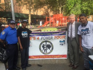 "Det. Lujan, Charles Fisher, Manhattan DA Cy Vance, Sharieff ""The Fitness Sheriff."""