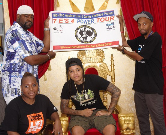BBQ 4 Peace With Young M.A, Worthy, Hip-Hop Summit Youth Council, Power 105.1 and VMB