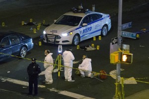 NYPD Cop Car At Crime Scene