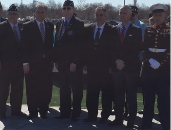 "Veterans Honored By Nassau C.E. Ed Mangano With ""Eternal Flame"" At Newly Renovated Coliseum"