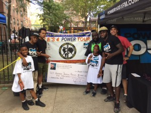 HHSYC with Danny Barber-Walker, kids and Power 105 Staff at the 2016 Family Day at Jackson Houses