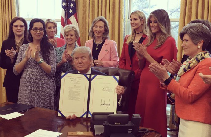 President Trump Issues A Proclamation For Sexual Abuse Awareness And Prevention Month